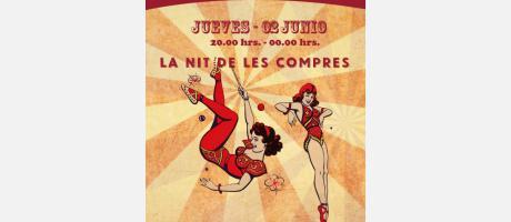Cartel de la Summer Shopening Night recreando el Circo
