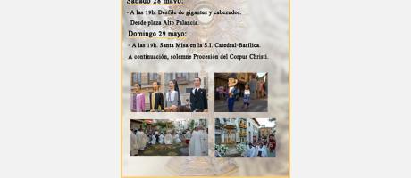 Cartel Corpus Christi Segorbe