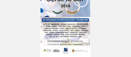 Cartel Día olímpico en Castellón