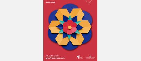 Cartel en color rojo de la Feria de Julio