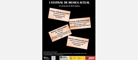 Cartell Ateneu Cultural I ara que? Festival de Música Actual