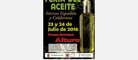 Cartel Feria del Aceite Sierra Espadán Calderona