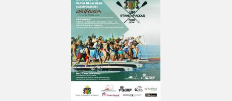 CARTEL I OPEN DE SUP RACE PLAYAS DE ORIHUELA 2016