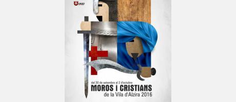 Imagen oficial de la fiesta de Moros y Cristianos de la Vila de Alzira 2016