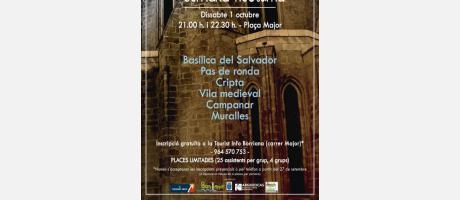 Cartel anunciador III Visita guiada Borriana Nocturna