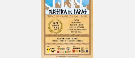 Cartel Muestra tapas Ciudad de Castellón