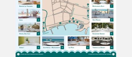 Mapa Restaurantes Participantes El Campello