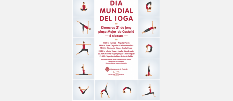 cartel dia mundial del yoga