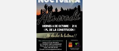 Cartel promocional Ruta Verde Nocturna en Almoradí
