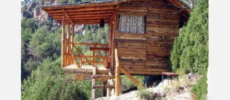 Albergue El Refugio en Montanejos Exterior Cabaña