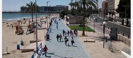 Playa del Postiguet y Paseo Marítimo de Alicante
