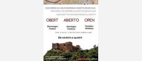 Horarios castillo de Forna