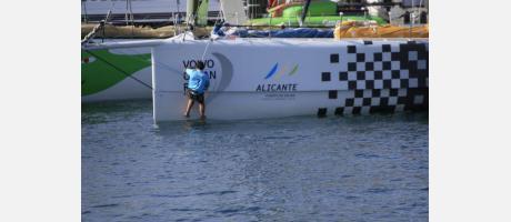 Puerto de Alicante, salida de la Volvo Ocean Race
