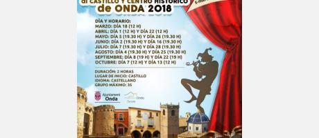 Visitas teatralizadas en Onda 2018