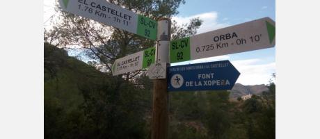 """Senderismo """"Orba-Fonts-Castellet"""""""