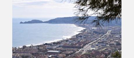 Vista de Xàbia desde los molinos