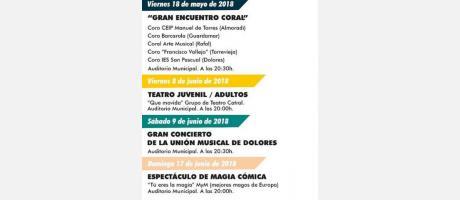 agenda y programación cultural abril - junio 2018