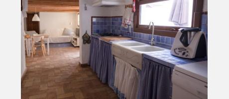 La cocina es de uso común para los huéspedes