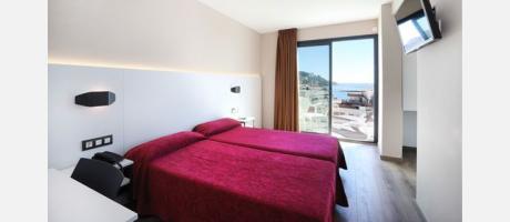 Habitación doble en el Hotel Alameda