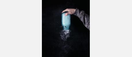 Experimento con humo