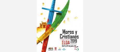 Cartel Moros y Cristianos Elda 2019