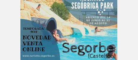 Cartel Complejo Acuático Segóbriga Park
