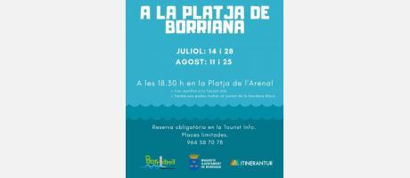 cartel actividades en la playa verano 2019