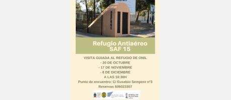 Cartel visitas guiadas al refugio antiaéreo
