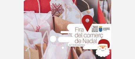 Cartel fira del comerç de Nadal