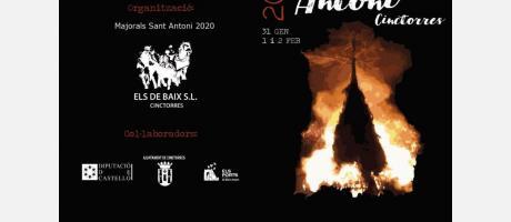 Programa de  la Festividad de San Anotnio Abad 2020 a Cinctorres