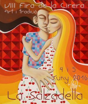 cartel feria de la cereza en La Salzadella
