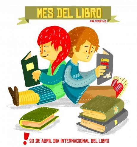 Niños leyendo en el mes de la lectura.