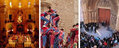 Imágenes del Misteri de Elche, tribunal de las Aguas de Valencia y la fiesta de la Mare de la Salut de Algemesí