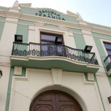 L'ancienne École de Céramique à Manises