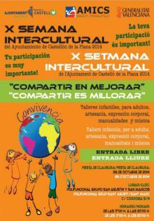 Cartel de la X Semana Intercultural