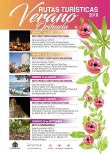 Cartel Rutas Turísticas de Verano Orihuela 2018