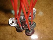 Mechas o pabilos para la elaboración de velones