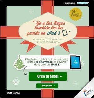 Felicita la Navidad a tus amigos y gana un iPad3 con la Comunitat Valenciana