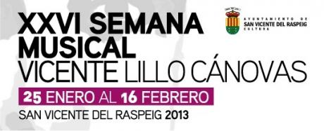 XXVI Semana Musical Vicente Lillo Cánovas 2013