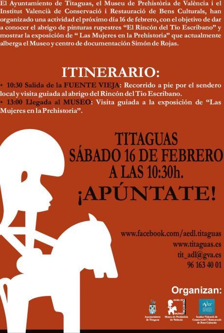 """RUTA Y EXPOSICIÓN """"LAS MUJERES EN LA PREHISTORIA"""" TITAGUAS  2013"""