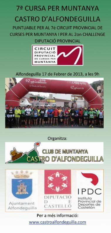 Carrera de montaña Castro de Alfondeguilla