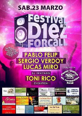 "Festival Radio ""D1EZ FM"", en Forcall."