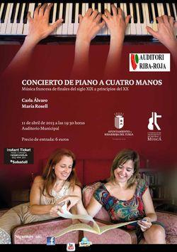 Concierto de piano a cuatro manos