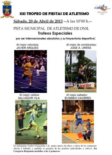 XXI Trofeo de Fiestas de Onil de Atletismo 2013