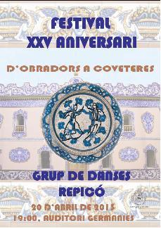 Festival XXV Aniversario Grupo de Danza Repicó de Manises.