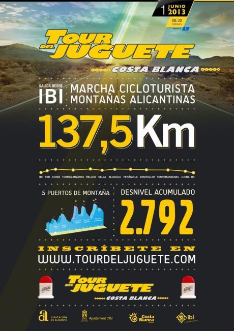3ª Marcha cicloturista TOUR del JUGUETE Costa Blanca  Ibi 2013