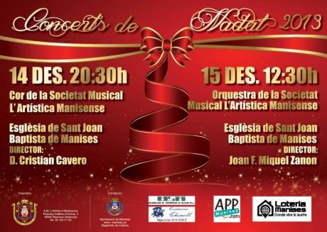 Conciertos de Navidad de la S.M. L'Artística Manisense. Manises 2013