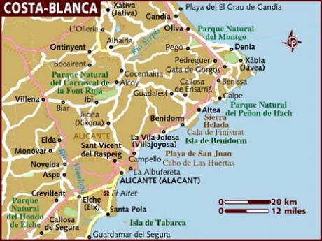 Rutas por la provincia de Alicante desde El Campello