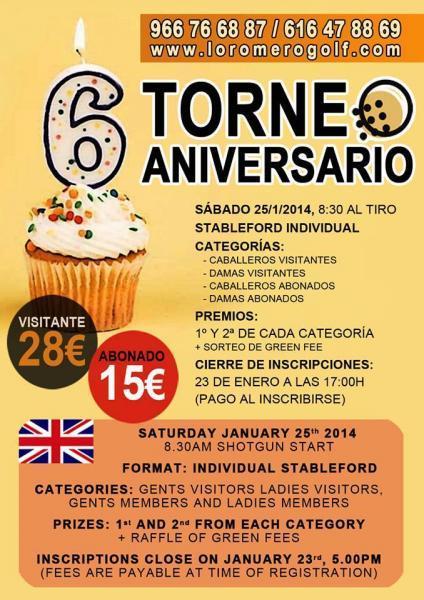 Torneo VI Aniversario Lo Romero Golf en Pilar de la Horadada