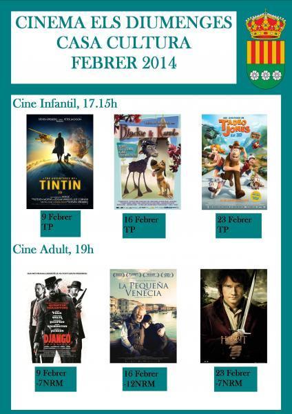 CINEMA ELS DIUMENGES - FEBRER 2014